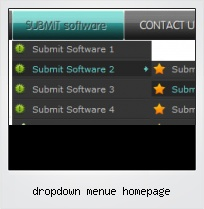 Dropdown Menue Homepage