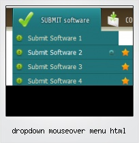 Dropdown Mouseover Menu Html