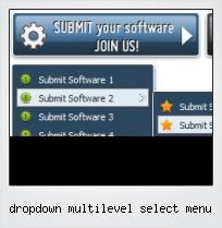 Dropdown Multilevel Select Menu