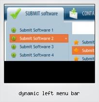 Dynamic Left Menu Bar