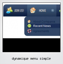 Dynamique Menu Simple