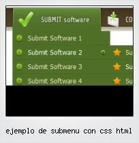 Ejemplo De Submenu Con Css Html