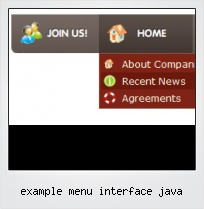 Example Menu Interface Java