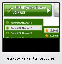 Example Menus For Websites