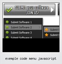 Exemple Code Menu Javascript