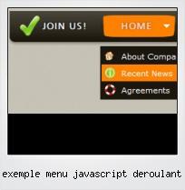Exemple Menu Javascript Deroulant