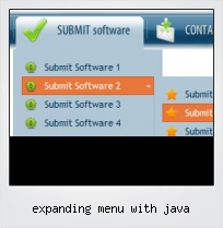 Expanding Menu With Java