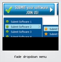 Fade Dropdown Menu