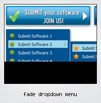 Fade Dropdown Menu