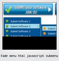 Fade Menu Html Javascript Submenu