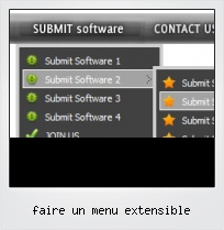 Faire Un Menu Extensible