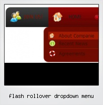 Flash Rollover Dropdown Menu