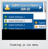 Floating Js Css Menu