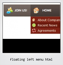 Floating Left Menu Html