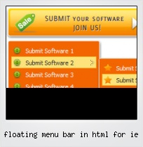 Floating Menu Bar In Html For Ie