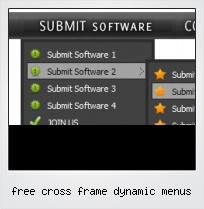 Free Cross Frame Dynamic Menus