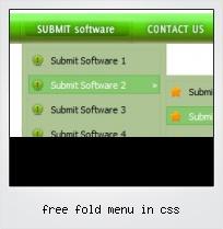 Free Fold Menu In Css