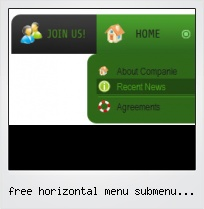 Free Horizontal Menu Submenu Generate