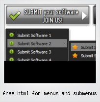 Free Html For Menus And Submenus
