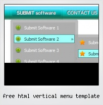Free Html Vertical Menu Template