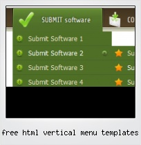 Free Html Vertical Menu Templates