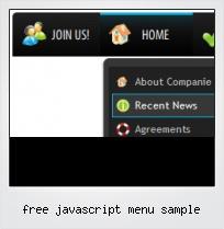 Free Javascript Menu Sample
