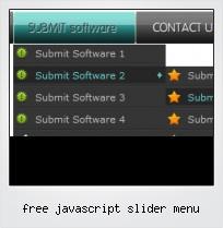Free Javascript Slider Menu