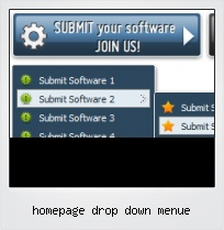 Homepage Drop Down Menue