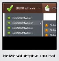 Horizontaal Dropdown Menu Html