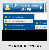 Horizontal 3d Menu List
