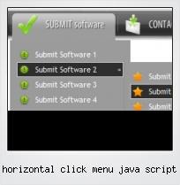 Horizontal Click Menu Java Script