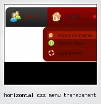 Horizontal Css Menu Transparent