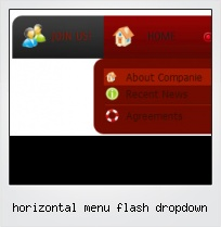 Horizontal Menu Flash Dropdown