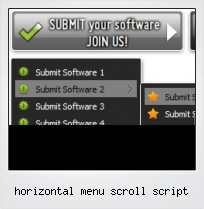 Horizontal Menu Scroll Script