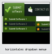 Horizontales Dropdown Menue