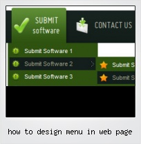How To Design Menu In Web Page