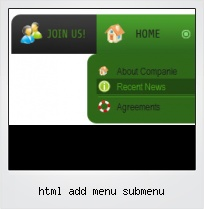Html Add Menu Submenu