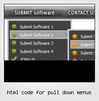 Html Code For Pull Down Menus