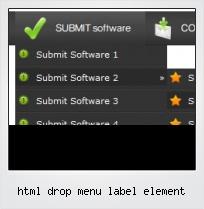 Html Drop Menu Label Element