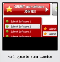 Html Dynamic Menu Samples