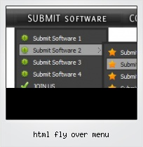 Html Fly Over Menu