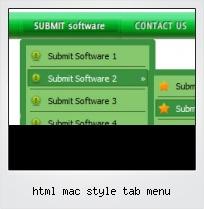 Html Mac Style Tab Menu