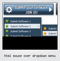 Html Mouse Over Dropdown Menu