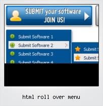 Html Roll Over Menu