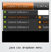 Java Css Dropdown Menu