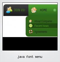 Java Font Menu
