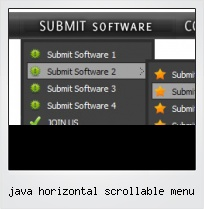 Java Horizontal Scrollable Menu