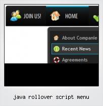 Java Rollover Script Menu