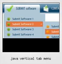 Java Vertical Tab Menu