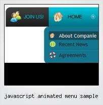 Javascript Animated Menu Sample